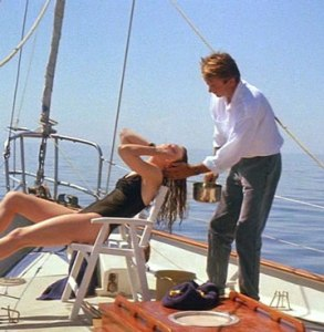 Sam Shepherd washes Nicole Kidman's hair in the movie, Dead Calm.