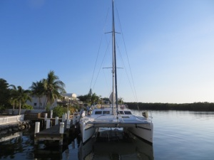 SV Aphrodite docked in the Florida Keys
