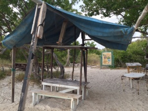 Beach shack on Great Bird Island, Antigua