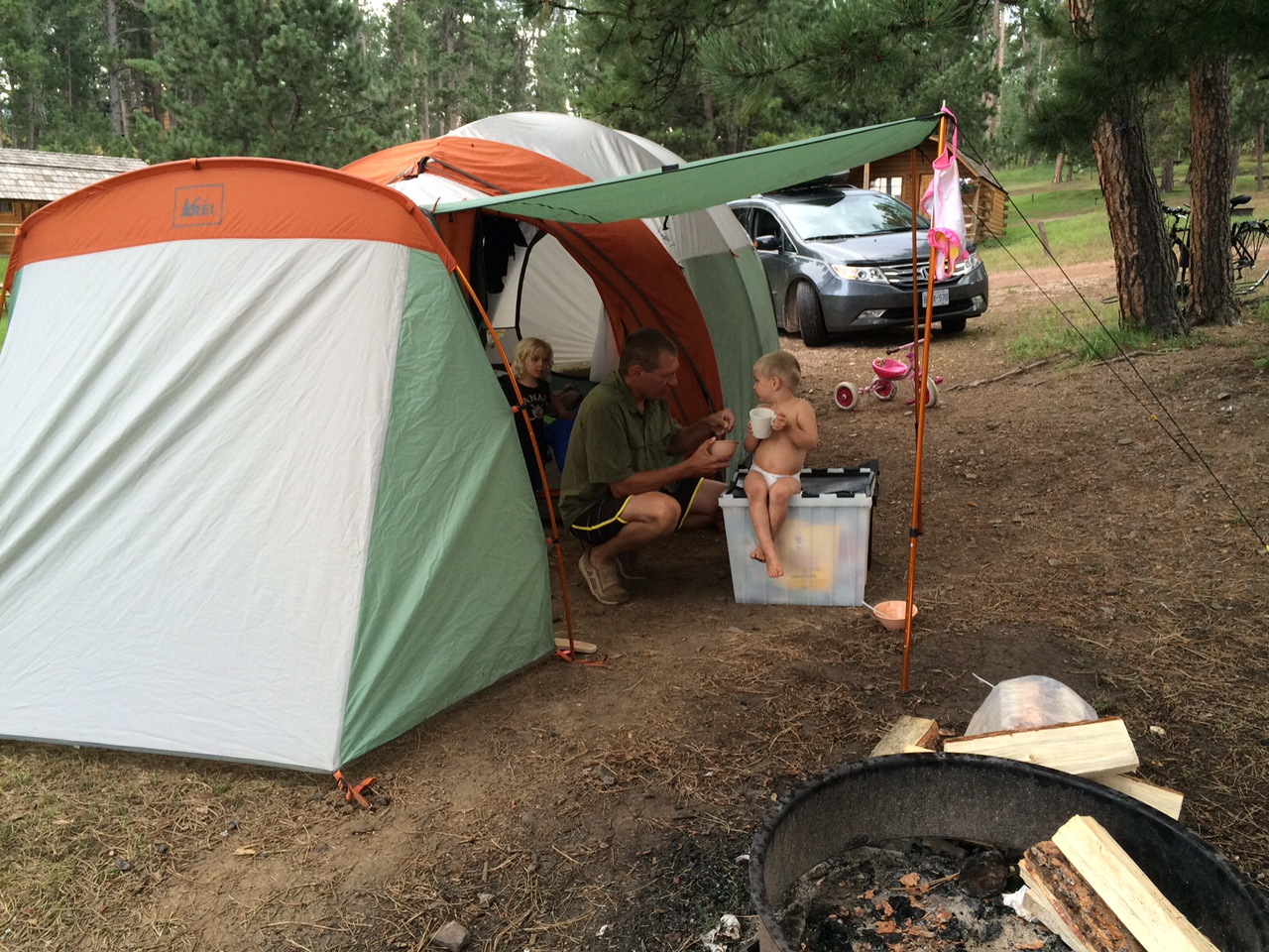 Our tent at Mount Rushmore KOA in Hill City South Dakota Our REI Kingdom ... & Tent unoccupied: the reluctant campers u2013 Becoming a Sailor