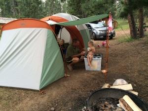 Our tent at Mount Rushmore KOA, in Hill City, South Dakota