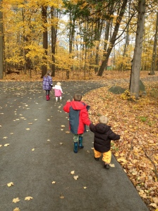 Our kids on our driveway in Ottawa, Ontario in the Fall of 2012.