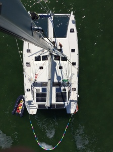 Picture taken today from the top of our 60+ foot mast
