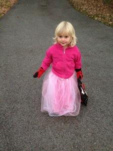 Karen (age 3), Halloween in Ottawa 2014.
