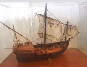 Replica of one of Columbus's ship at the Museu