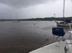 Luperon harbour filled with debris