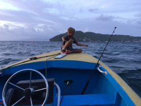 Paul on Shiv's boat in Bequia