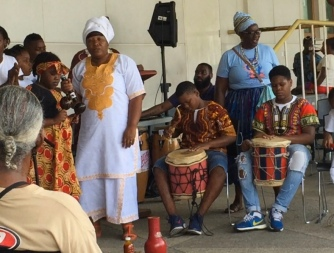 Yoruba celebration in Port of Spain, Trinidad
