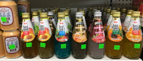 Basil seed drinks in Trinidad.